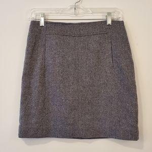Banana Republic stretch wool mini skirt size 2